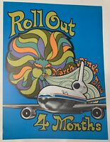 MCDONNELL DOUGLAS DC-10 4 MONTHS TO ROLLOUT 60'S 70'S POSTER