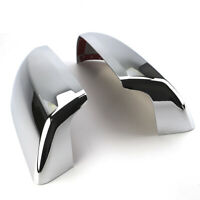 A Pair Chrome Side Mirror Covers Top Half for 07-20 TOYOTA TUNDRA SEQUOIA