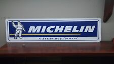 """MICHELIN TIRES LOGO Aluminum Sign  6"""" x 24"""" (Free Decals with your Purchase)"""