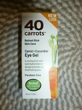 40 CARROTS~~RETINOL-RICH~~CARROT + CUCUMBER EYE GEL .5 OZ NIB *NEW LOOK*
