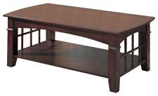 Abernathy Cherry Finish Coffee Table with Shelf by Coaster 700008