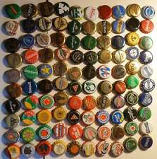 100 different used world beer caps K5