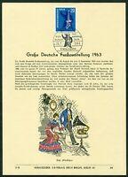 Privat ETB Ersttagsblatt Erich Braun Nr. 84 Berlin Mi Nr. 232 Funkausstellung 63