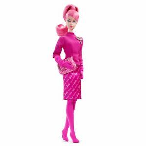 PROUDLY PINK SILKSTONE BARBIE 60TH ANNIVERSARY COMING OUT OF SHIPPERS, MINT,NRFB