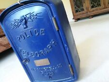 Gamewell Police Call Box Telegraph Blue original parts clean New York Rare Gem
