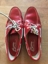 PREOWNED Quoddy BOAT SHOES women's 9 RED