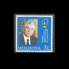 Moldova, Sc #455, Mnh, 2003, President Voronin of European Union, A350Fxcx