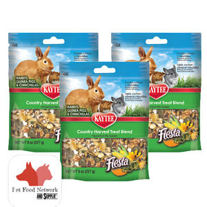 Kaytee Fiesta Country Harvest Treat for Rabbit, Guinea&Chinchilla 7oz  (3 Pack)