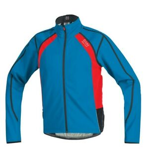 Gore Bike Wear Oxygen Jacket Windstopper Soft Shell size L color Blue & Red