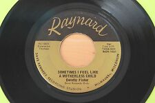 DOROTHY FISHER Sometimes I Feel Like A Motherless Child 45 Popcorn Gospel HEAR