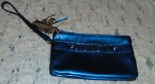 JUICY COUTURE METALLIC BLUE COLOR WRISTLET WITH 2 OPENINGS PREOWNED