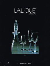 PUBLICITE ADVERTISING 084  1991  LALIQUE  CRISTAL service KENTIA