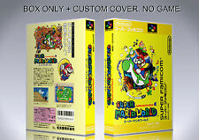 SUPER MARIO WORLD. JAPAN. Box/Case. Super Nintendo. BOX + COVER. (NO GAME).