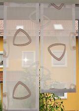 Scheibengardinen 2 x Breite 27 cm x Höhe 67/82cm -  neu - modern Gardine Paneel