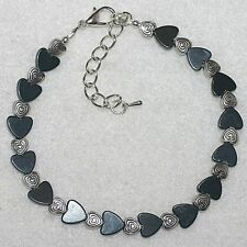 Colour Changing Mood Bead Magnetic Hematite Anklet Ankle Bracelet = Select Size