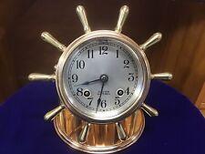 "1939 Chelsea ""Vanderbilt� Ship's Bell Desk Clock"