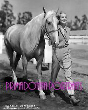 CAROLE LOMBARD  8X10 Lab Photo Animal Lover Horse Cowgirl Personal Pet Happiness