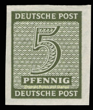 EBS Germany 1945 Soviet Zone - West Saxony - Numerals set 5 Pf imperf 116Y MNH**