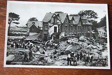 LYNMOUTH 16TH AUG 1952 FLOOD DISASTER. R/PHOTO/PC BY HARVEY BARTON  BRISTOL