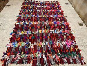 9.5x6.0 ft  Vintage Angora Wool Boucheroite Shaggy Tulu Kilim Rug 290CMx182CM