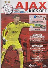Programma / Programme Ajax Amsterdam v Feyenoord 19-12-2010