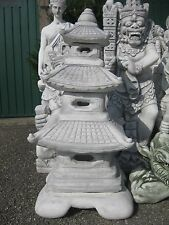 Japanische Laterne chinesische Steinlaterne Garten Steinguss 93 cm Lampe Pagode