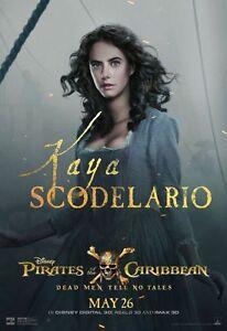 Poster Pirates Of The Caribbean 5 Dead Men Tell No Tales Kaya Scodelario Photo 1