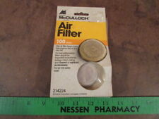 NOS McCulloch Chainsaw parts Air Filter 100 series 214224