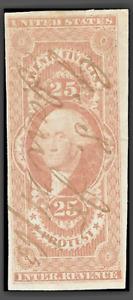 "Mr B's US Stamp #R49a -1862 - George Washington ""Protest"" Revenue  -FREE SHIP"