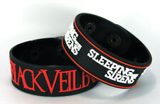 BLACK VEIL BRIDES SLEEPING WITH SIRENS 2x Rubber Bracelet Wristband ww55 Mix