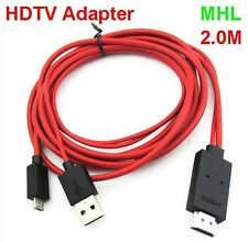 2m 1080P Micro USB MHL to HDMI Cable adapter HDTV Sony Xperia SX SP GX T Z V TX