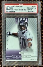 "2002 Upper Deck Graded ""Making The Grade"" #143 ED REED RC Ravens HOF PSA 10"