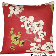 Linen Blend Floral Square Decorative Cushions