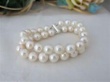 Armband Echte Perle 10-11mm, Zweireihig, Super Lüster,  Verschluss 925er Silber