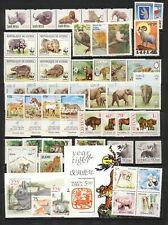 Wild animal mnh vf stamp collection with WWF sets on two stockpages