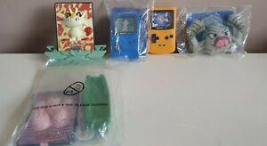 Burger King Meal Toys - POKEMON - x5 Toys - 2000