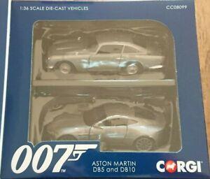 Corgi CC08099 James Bond 1/36 Two Model Set Aston Martin DB5 & Aston Martin DB10