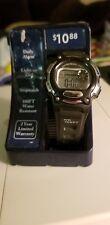 Geneva Black And Silver Digital Watch, Stopwatch