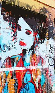 STUNNING POP ART GRAFFITI URBAN STREET ART CANVAS #733 QUALITY PICTURE A1