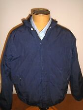Gant Rugger Nylon Hooded Water-resistant Windbreaker Jacket NWT large $295 Navy