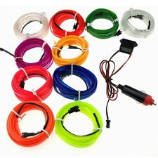 EL  wire rope flexible LED lamp with neon decoration+car cigarette lighter 1set