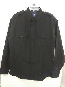 Spiewak Men's 15/5 34/35 Black Long Sleeve Officer Uniform Shirt NEW