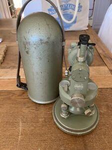 Theodolite With Original Case Wild Heerbrugg Switzerland TO-63653