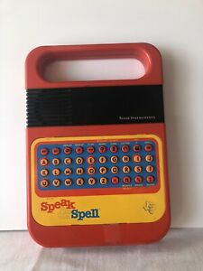 Vintage SPEAK & SPELL Texas Instruments 1978 electronic toy (works)