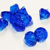 "1.5"" Royal Blue Faux Diamond Table Decor Sapphire Acrylic Pirate Gem Vase Filler"