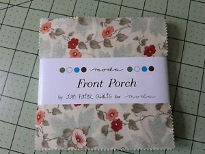Jan Patek Quilt Fabric ~ OOP Moda FRONT PORCH ~ Charm Pack