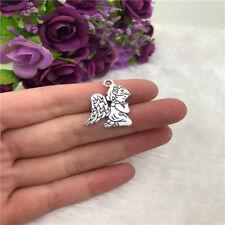 6pcs Praying Angel Charm Tibetan Silver Bead Finding Jewellery Making 23x17mm
