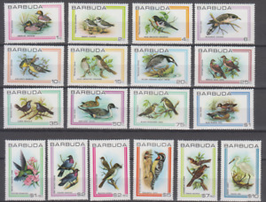 BARBUDA1980 FAUNA BIRDS COMPLETE SET 18v MINT NEVER HINGED TOP78