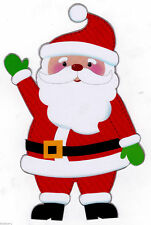 "7.5"" SANTA  CHRISTMAS HOLIDAY WINDOW CLING DECAL CUT OUT CHARACTER"