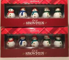 2013 SET OF 2 BOXES OF HALLMARK LET IT SNOWMEN ORNAMENTS - 10 ORNAMENTS IN ALL